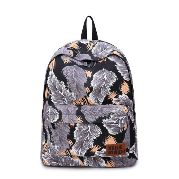 Canvas Bag Fashion Women Backpack Printing Backpack School Bags For Teenagers Girls Durable Laptop Casual Travel Bag