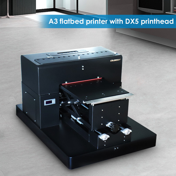 8 color A3 flatbed printer Digital Textile Printer T-shirt Printing Machine DTG Printers with DX5 printhead