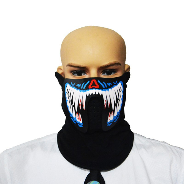 Interesting Sound & Voice-activated LED Music Mask Breathable Light weight Music Party Masks New