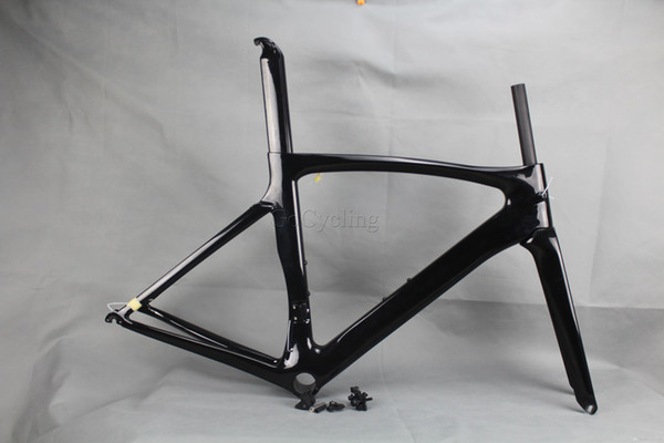 2016 carbon road bike frames Black glossy racing carbon bicycle frame cycling frameset No decals clear coat BB shell PF30
