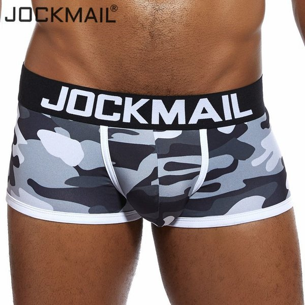 JOCKMAIL Marca Sexy intimo uomo Camouflage cueca boxer boxer pantaloncini da uomo slip hombre boxer Gay biancheria intima Pene caldo