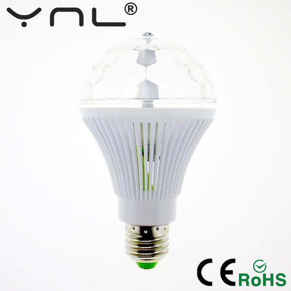 YNL RGB Dj disco light 6W E27 85-265V Color music Colorful Rotating Magic disco Ball luces discoteca Party lights effect Bulb