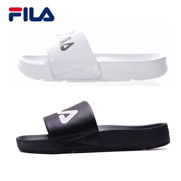 2018 Fila Slippers DRIFTER Drifting Series Men Women Sports Casual Shoes Black White Red Beach Sandals Slippers Light Slippers Eur 36 44 Clogs For