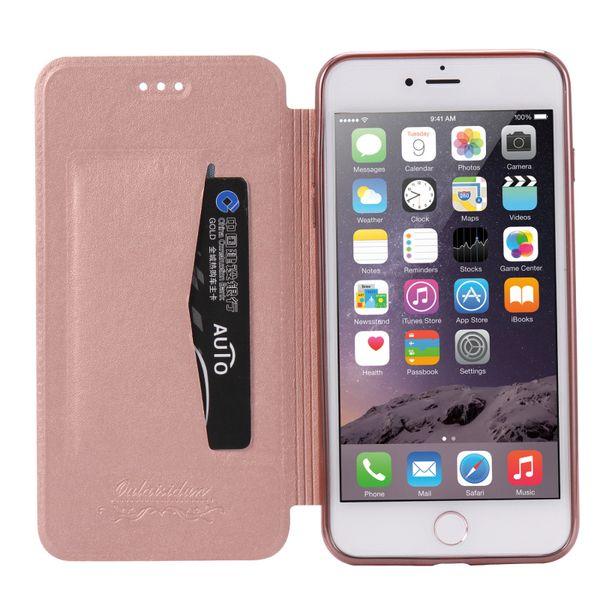 Rosso Ultra Sottile Flip Custodia per Apple iPhone 6 Plus / 6s