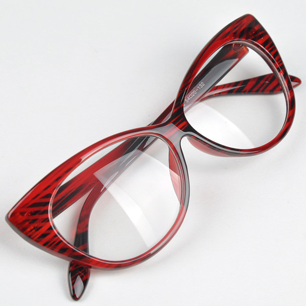 Casual Style Women Lovely Cat Eye Pattern New Designer Glasses Frame Fashion Vintage Design Clear Lens Eyewear Frame
