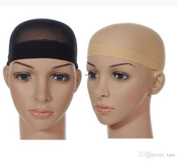 top popular Unisex Stocking Wig Liner Cap Snood Nylon Stretch Mesh 3000pcs Free shipping 2019