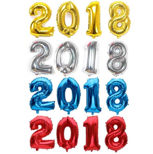 Palloncino digitale da 32 pollici 2018 set 2018 Nuovissimo centro commerciale per feste Eve party aula oro argentato nero blu rosso caldo rosa