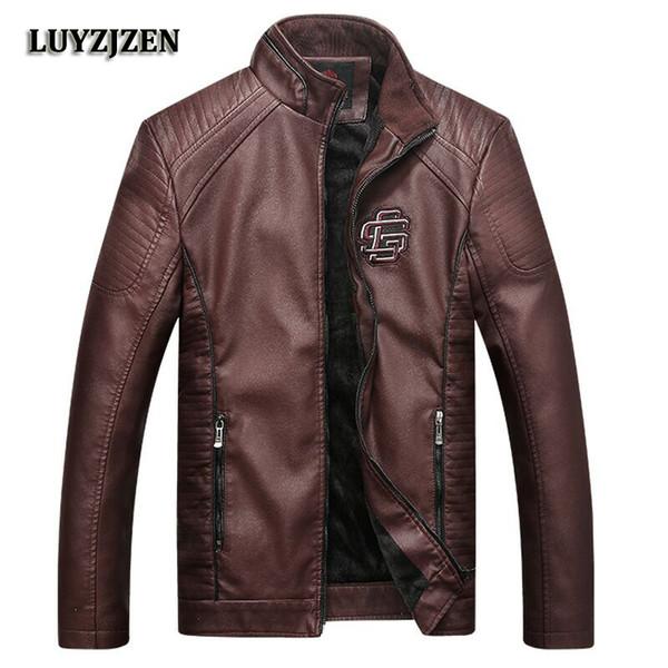 New Faux Leather Jackets Men Plus Size Spring Autumn Winter Coat Men 2018 Male Classic Biker Motorcycle Jacket High Quality K125