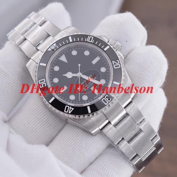 Luxusmarke Herrenuhr 114060-97200 Keramische Lünette 2813 Automatik-mechanisches Uhrwerk Schwarzes Zifferblatt Wassergeister Edelstahl 40mm Armbanduhr