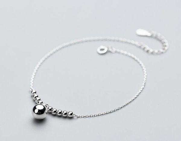 100% authentique authentique. 925 Sterling Silver Fine Jewelry Petit Grand Lucky Round Perles Charms Bracelet Bracelet GTLS696