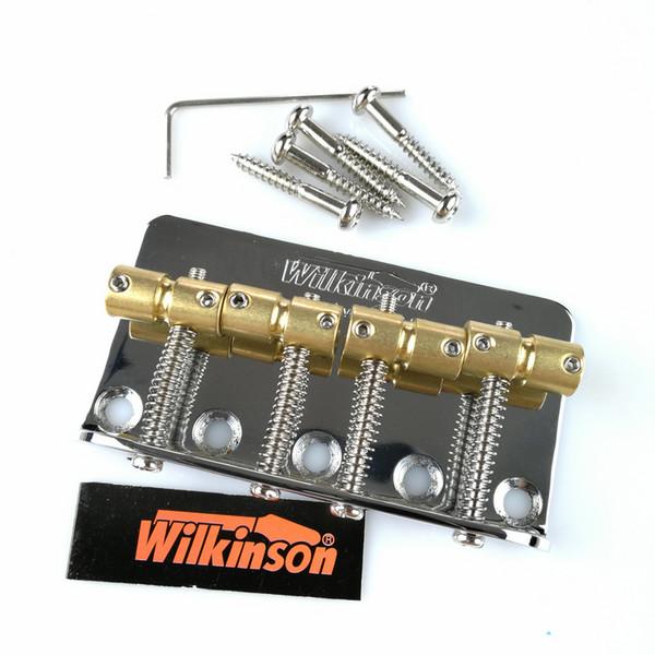 Chrome Black Wilkinson WBBC Four 4 Strings Electric Bass Bridge With Brass Saddles For Precision Jazz