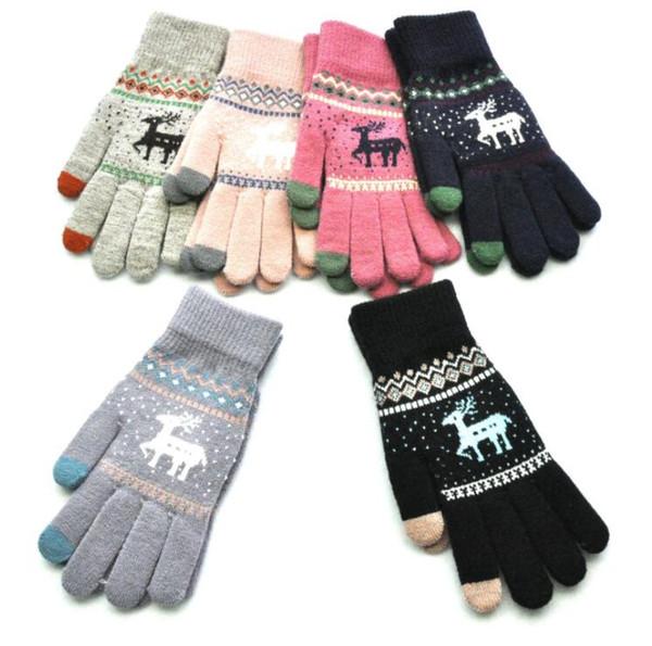 Strick Fausthandschuhe MODELL 2 Unisex Winter Handschuhe Fäußtlinge