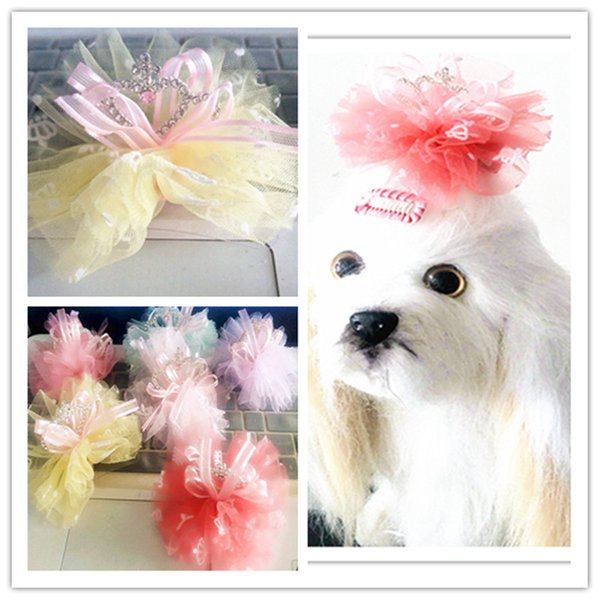 Dog Grooming Crown Dog Bobby Pin Pet Accessory Princess Pet Hairpin Barrette Grooming Hair clip 20 pcs/lot