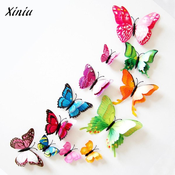 3D DIY Wall Sticker Wallpaper Butterfly Home Decorations Decor Room Decorations High Quality Wall Stickers Random Color