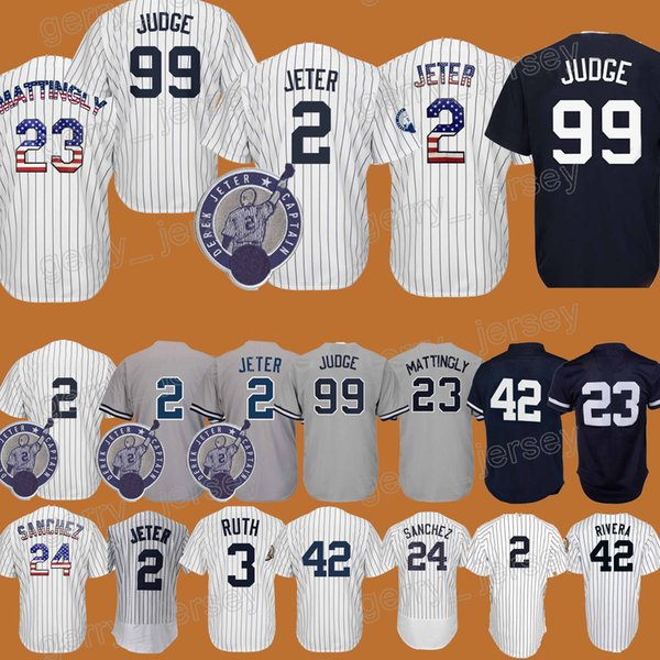 on sale 6d7d5 34355 2018 #23 Don Mattingly Jersey 42 Mariano Rivera 3 Babe Ruth 7 Mickey Mantle  High Quality Hot Sale Baseball Shirt From Gerry_jersey, $19.69 | ...