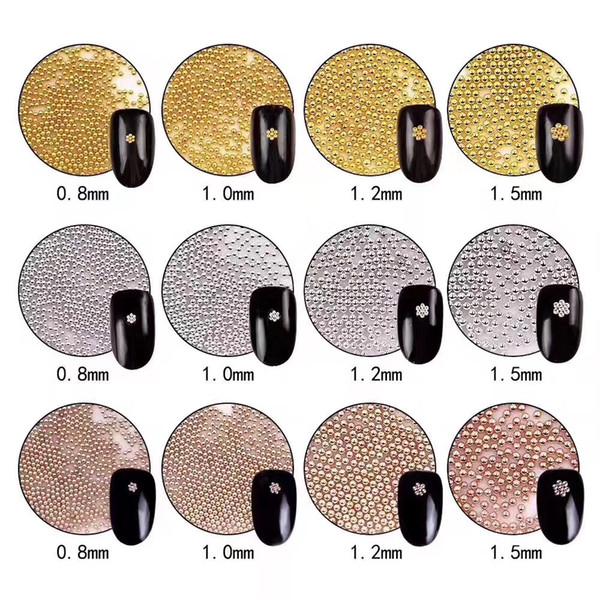 Swagpick 200g Metal Beads Steel Ball Nail Stud CAVIAR BEADS ROSE GOLD Crystal 3D Micro Ball Nail Art Charm