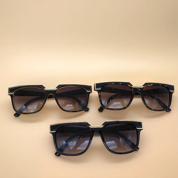 Occhiali da sole Luxury Eyewear Legends Lenti sfumate con montatura nera Germania Occhiali da vista Cornice quadrata vintage con scatola 1617
