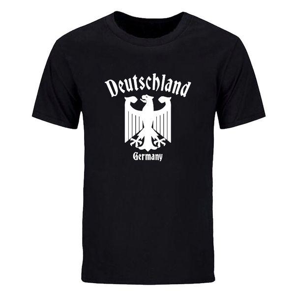 fashionzone520 / Summer Fashion Short Sleeve Deutschland T Shirt Men Cotton Round Neck Germany Eagle T shirts Men casual tops tees DIY-0862D