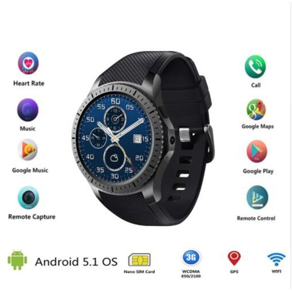 Round smart watch clock GW10D support Bluetooth WiFi 2G/3G Android 5.1 Fitness Tracker Heart Rate smartwatch PK Samsung Gear S3