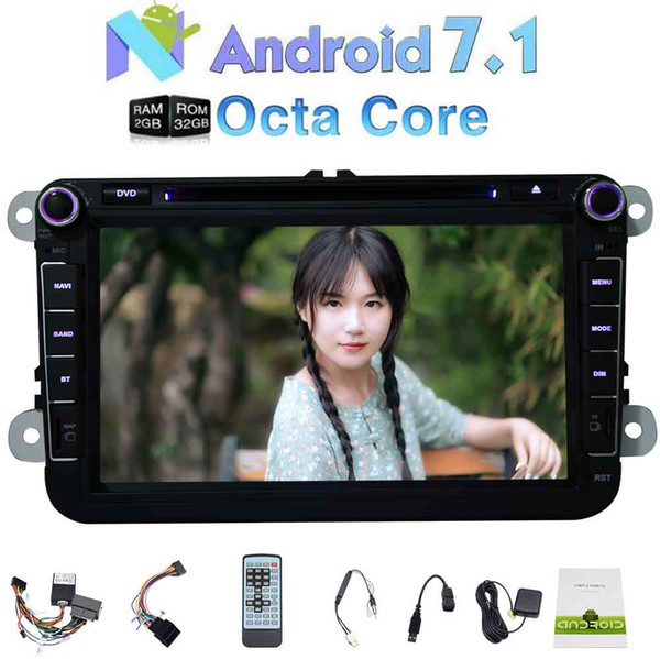 Eincar Android OCTA Core Car DVD Player 8''buletooth Car Stereo GPS Navigation system for VW PASSAT Golf Double Din In Dash WiFi Bluetooth