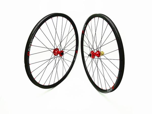 DAIRS 29er xc 27mm carbon MTB wheels 29er MTB wheels QR 100x9mm 135x9mm red hubs Mountain Bikes bicycle MTB wheels DAIRS UD matt