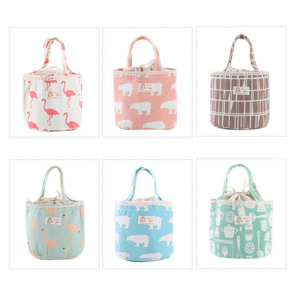 Wholesales 6 Designs Insaluted Lunch Box Bags Dinner Plate Sets Handbags Travel Gadgets Closet Organizer Kitchen Accessories Home Decor