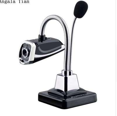 Angala Tian USB Microphone Desktop HD Webcams Web Camera Built-in Night LED Lights For Computer PC Laptop Video Recording/Call