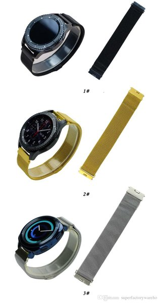 1PCS For Samsung strap For Samsung gear S3 smart watch new switch ear ear Milanese magnetic watch strap 22mm