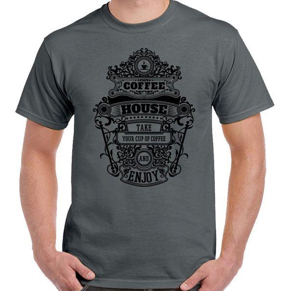 Coffee House - Mens Funny coffee Dispenser T-Shirt T shirt Summer Style Fashion Men T Shirts top tee