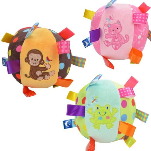Baby Children's Ring Bell Rattle Ball Baby Cloth Music Sense Learning Toy Ball Educational Plush Cotton Hand Grasp Ball supply