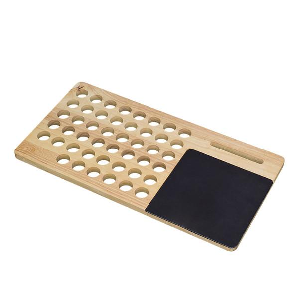 Premium Bamboo Lap Desk Support Ordinateur Portable Stand De Bureau Ardoise 13 pouces 15 pouces Pour MacBook Ordinateur Portable Ordinateur Portable Ordinateur Tablette Souris Intégrée STY115