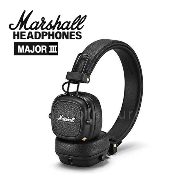 2018 Más nuevo Marshall Major III 3.0 Auricular Bluetooth con micrófono Deep Bass Hi-Fi DJ Headset inalámbrico Major 3 Professional para iphone XS Plus