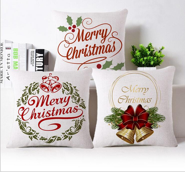 Explosion models Nordic Christmas pillowcase home office car waist rely on cartoon linen pillow can be customized