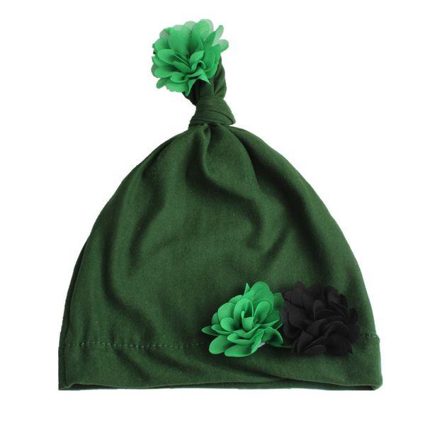 Army Green flower hat