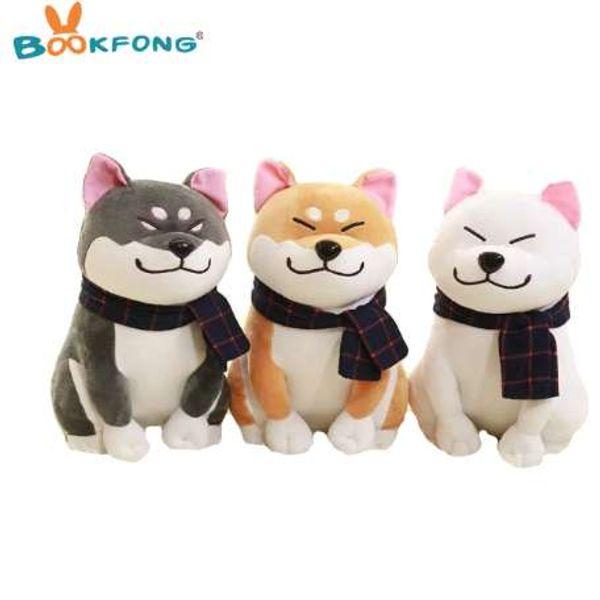 BOOKFONG 1 STÜCK Tragen schal Shiba Inu hund plüschtier weiche ausgestopfte hundespielzeug gute valentine geschenke für freundin 25 cm / 9,84 ''
