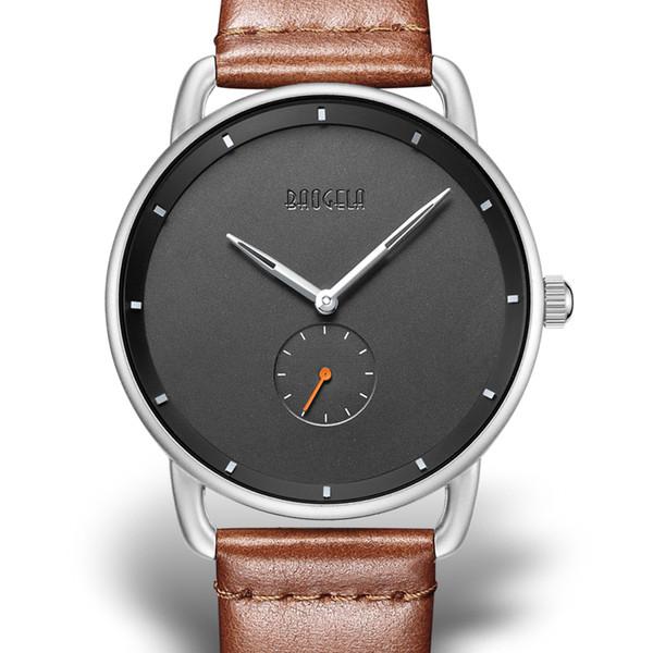 Vogue Watches Men Top Brand reloj de cuarzo creativo hombres Luxury Casual reloj de cuarzo negro Simple reloj de diseño hombre montre homme