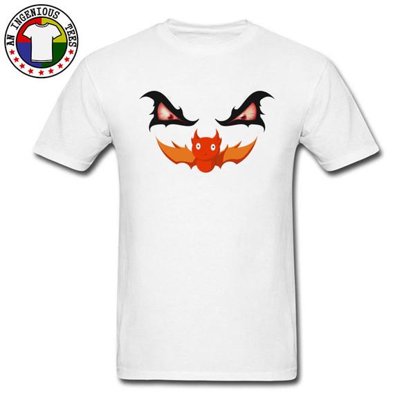 Yortusu Tshirt Evil Arayıcı Chiroptera Yarasa Grafik Başar Erkekler T Gömlek Beyaz Kısa Kollu Saf Pamuk Lüks Tee Gömlek Yeni