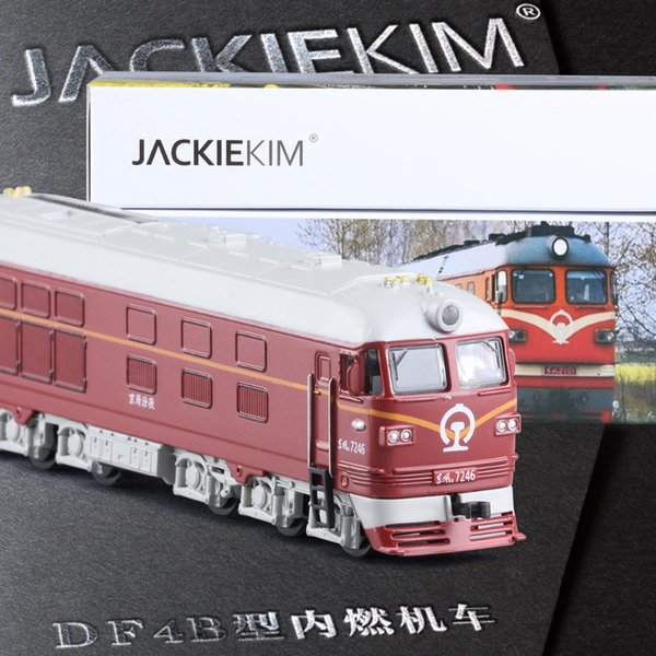 High Simulation 1:87 Alloy Train Model Toy Diesel locomotive Internal-combustion locomotive Model Of Acousto-optic Kids Toy