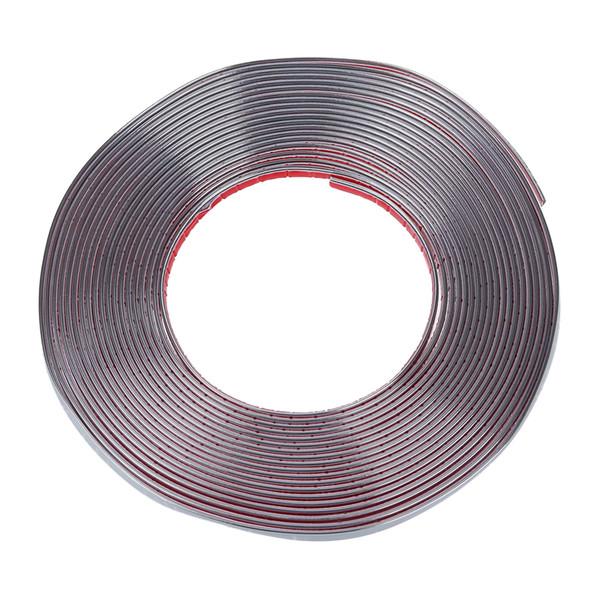 İyi anlaşma-Araba Dekoratif Krom Kalıp Trim Şerit Gümüş Ton 15M x 10mm