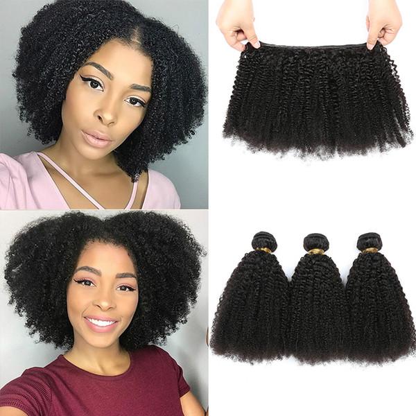 Mongolian Hair Afro Kinky Curly Hair Extension Human Hair Bundles Weave 3 Bundles Rainbow queen Brand Free Shipping