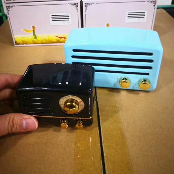 1pc Retro Vintage Bluetooth Speaker T5 Wireless Mini Portable TF Card Subwoofer Bass T5 Bluetooth Speaker