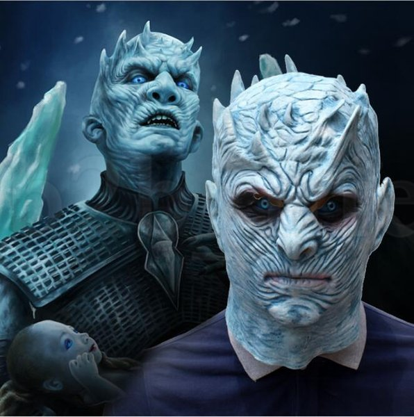 Cosplay Game of Thrones mask Night King Mask Full Head Halloween Masks Latex Party Mask Cosplay Toy Props KKA5900