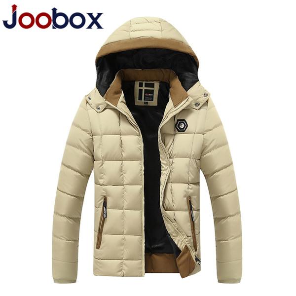 2018 New Parkas Men Winter Parkas Thick Windproof Warm Hat Detachable Zipper for Male Plus Size L-XXXL Casual Jackets Man
