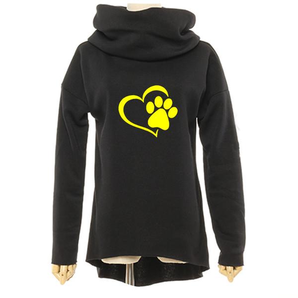 Tier cat dog frauen winter hoodies schal kragen langarm mode lässig herbst sweatshirts grobe pullover