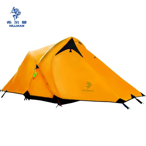 HILLMAN CAMPING TENT HIGH MOUNTAIN HIGHLAND SNOW MOUNTAIN DOUBLE LAYERS SILICONE COATING TENTS SUPER WINDPROOF RAINPROOF