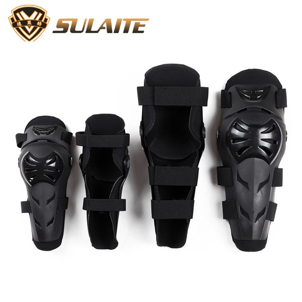 4pcs Sulaite Men's Motorcycle Kneepads & Elbow pads skating Skiing Protective Gears Moto protectors sports protection 1 set