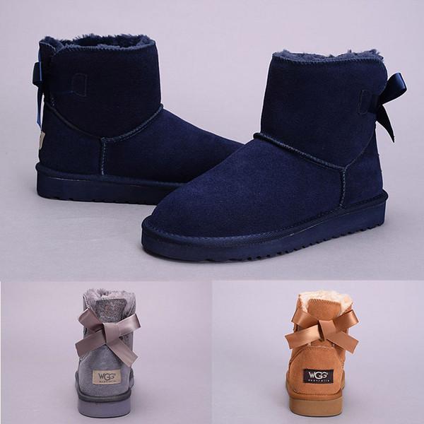 Classique Bottes Châtaigne Bowtie Acheter Bottines Boots Fille Mode Snow De Neige EUR WGG Noir Gris UGG Bleu New Femmes 2018 Marine Australie Femmes nOP80kNwXZ