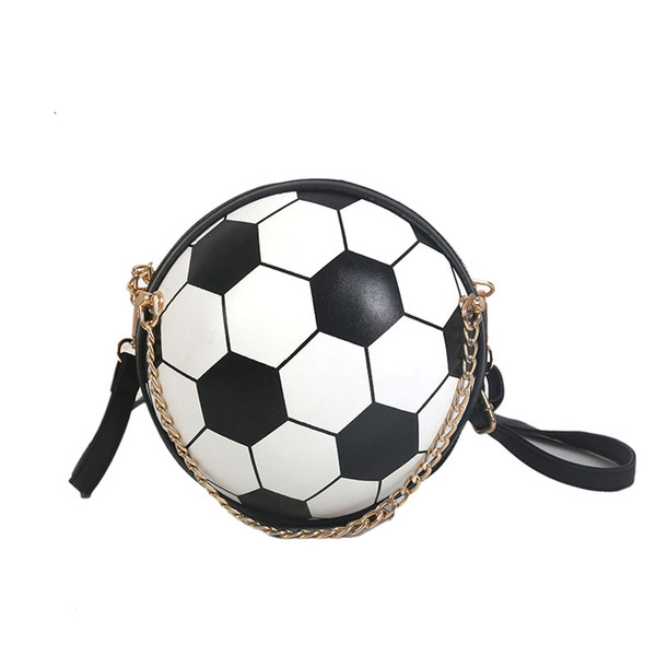 Grosshandel Lustige Design Fussball Form Tasche Frauen Nette Pu Leder Schultertasche Damenmode Handtasche Sommer Messenger Bags Von Wasabiu 24 8 Auf