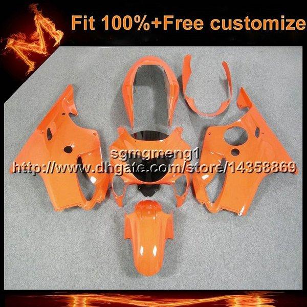 Careta anaranjada de la motocicleta del molde de inyección 23colors + 8Gifts para Honda 00 CBR600F4 1999-2000 F4 99 00 CBR 600 Fairing plástico del ABS
