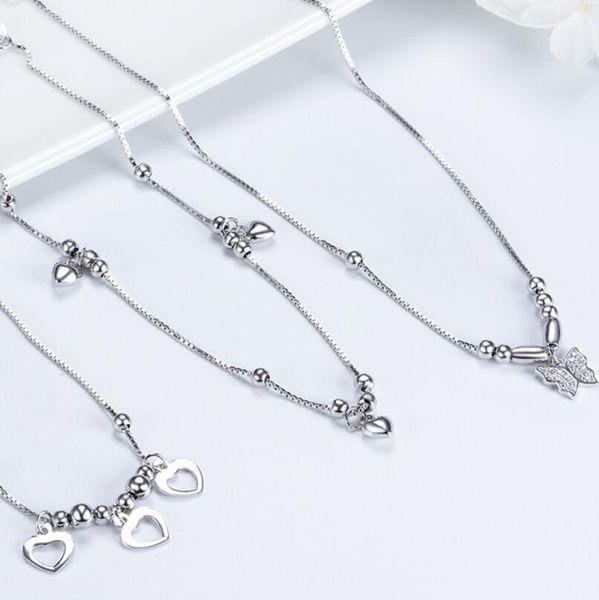 bijoux de luxe S925 bracelets de créateurs en argent sterling pour les femmes pendentifs bracelets de cheville mode chaude sans expédition